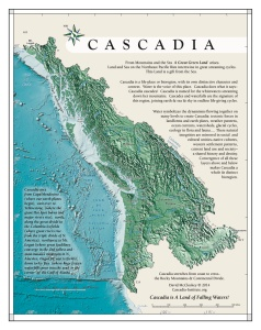 Map of Cascadia