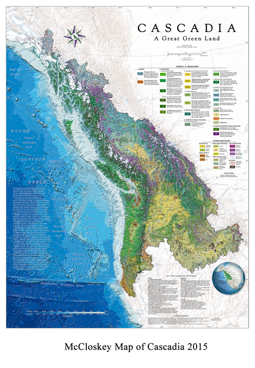 Map of Cascadia, Cascadia Map