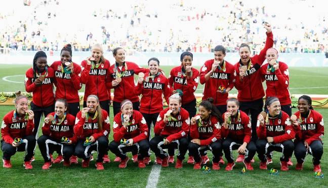 sophie schmidt, christine sinclair , team canada womens soccer, rio 2016